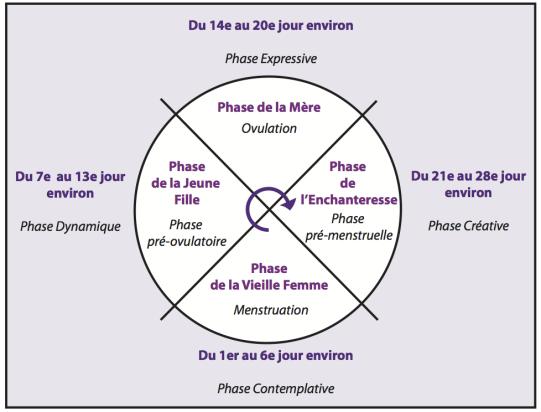 yoga de la femme - le cycle menstruel